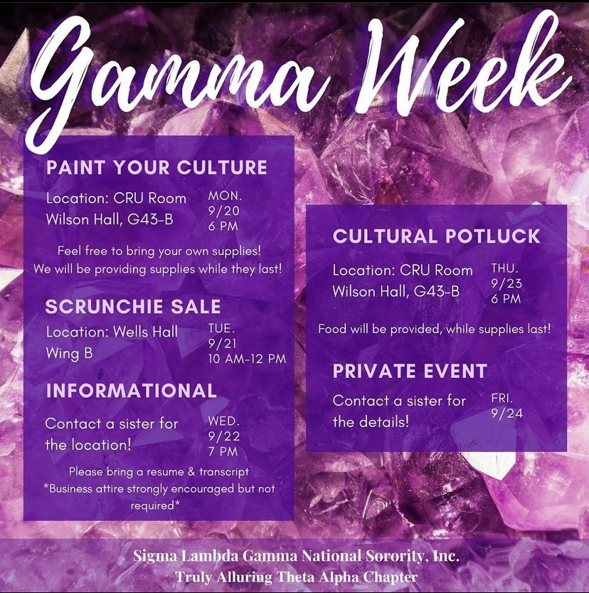 GAMMA WEEK: Informational @ *Contact a sister for the location!*