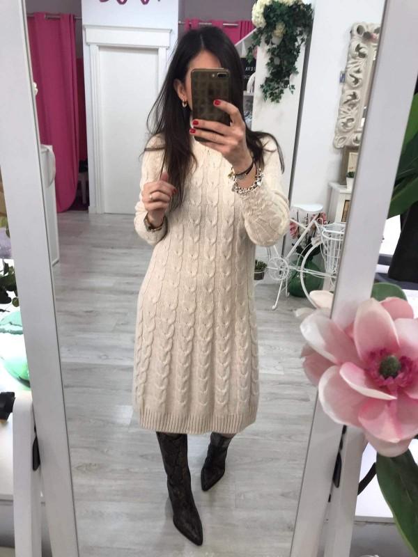 Vestido punto brillo