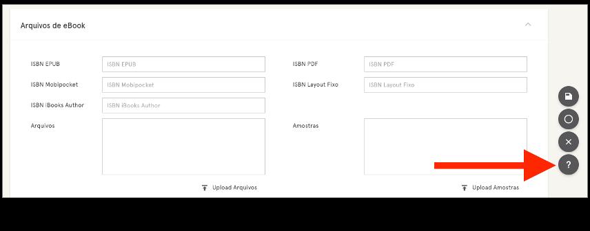 Captura de tela mostrando onde está o botão de ajuda na página do produto.