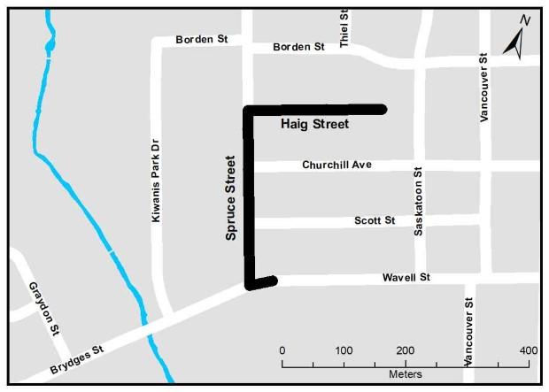 Spruce-Haig Construction Map