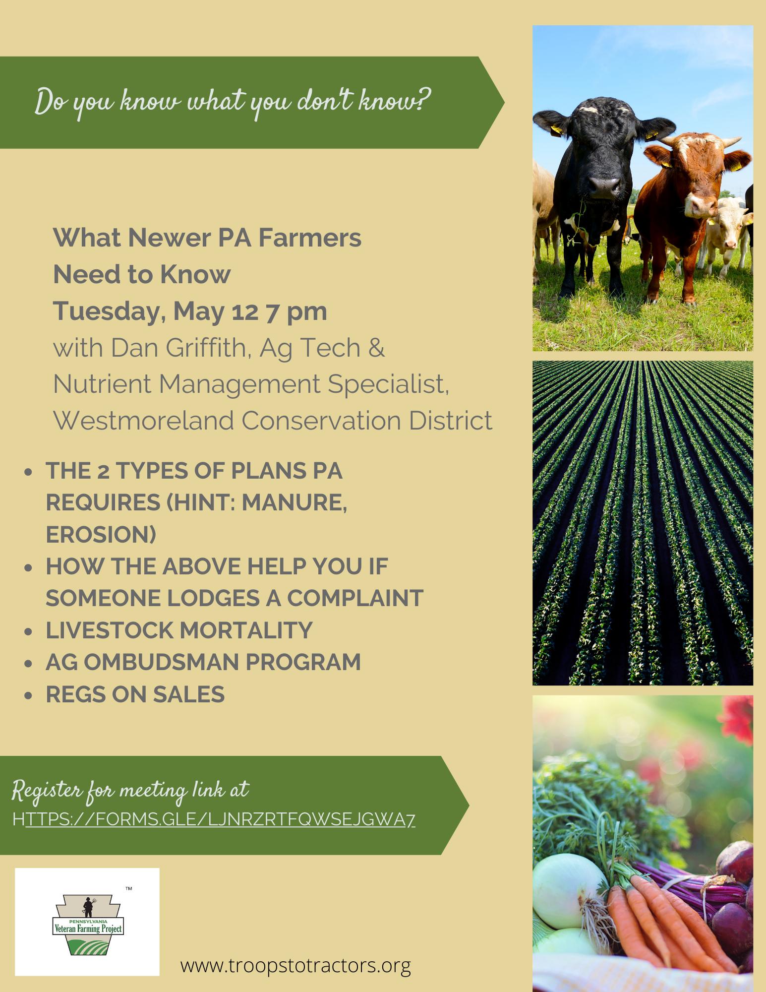 Flyer for farm workshop