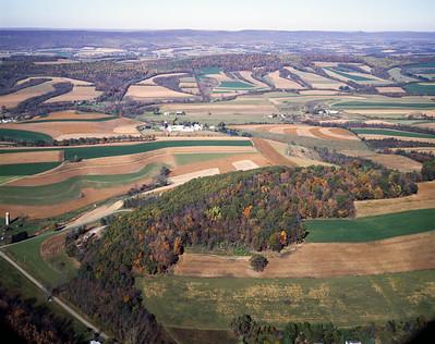 Aerial view of PA farmland