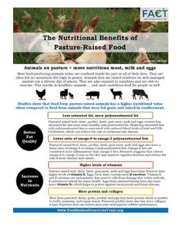 Graphic of flyer for pastured meat benefits