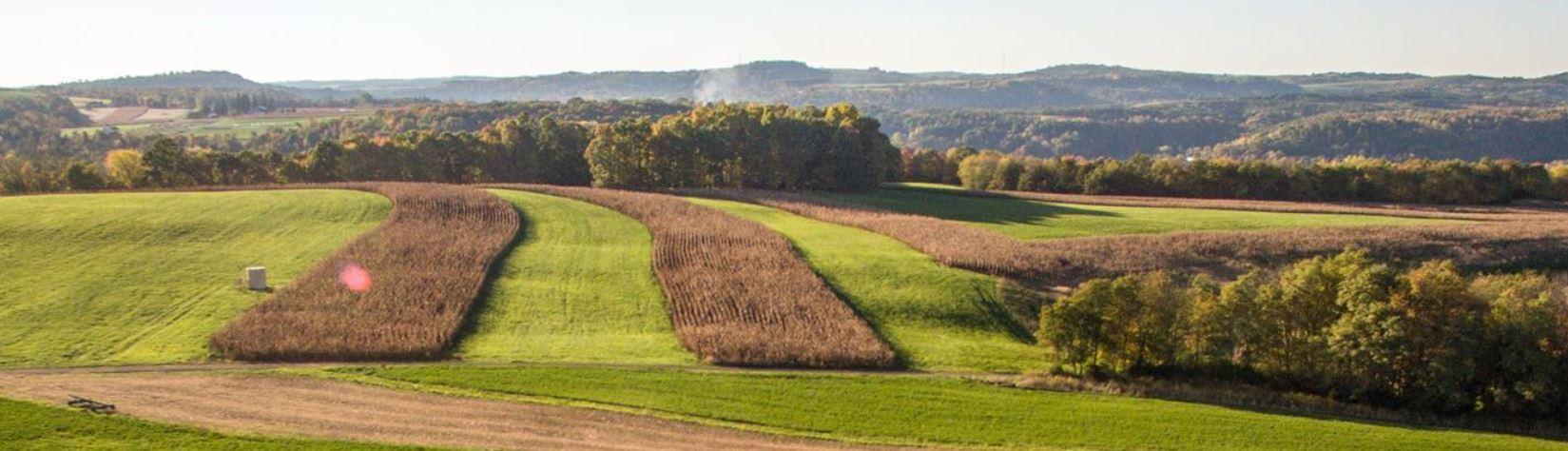 Pennsylvania farmland showing conservation best management practices