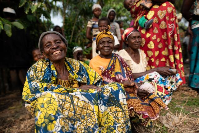 Photo of women smiling together