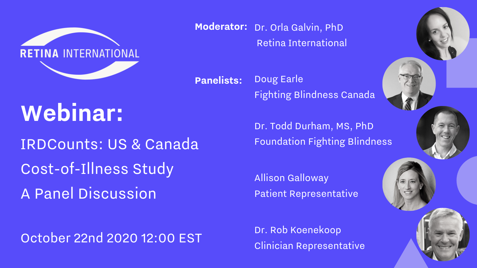 Flyer: Cost of Illness Panel Discussion October 22nd