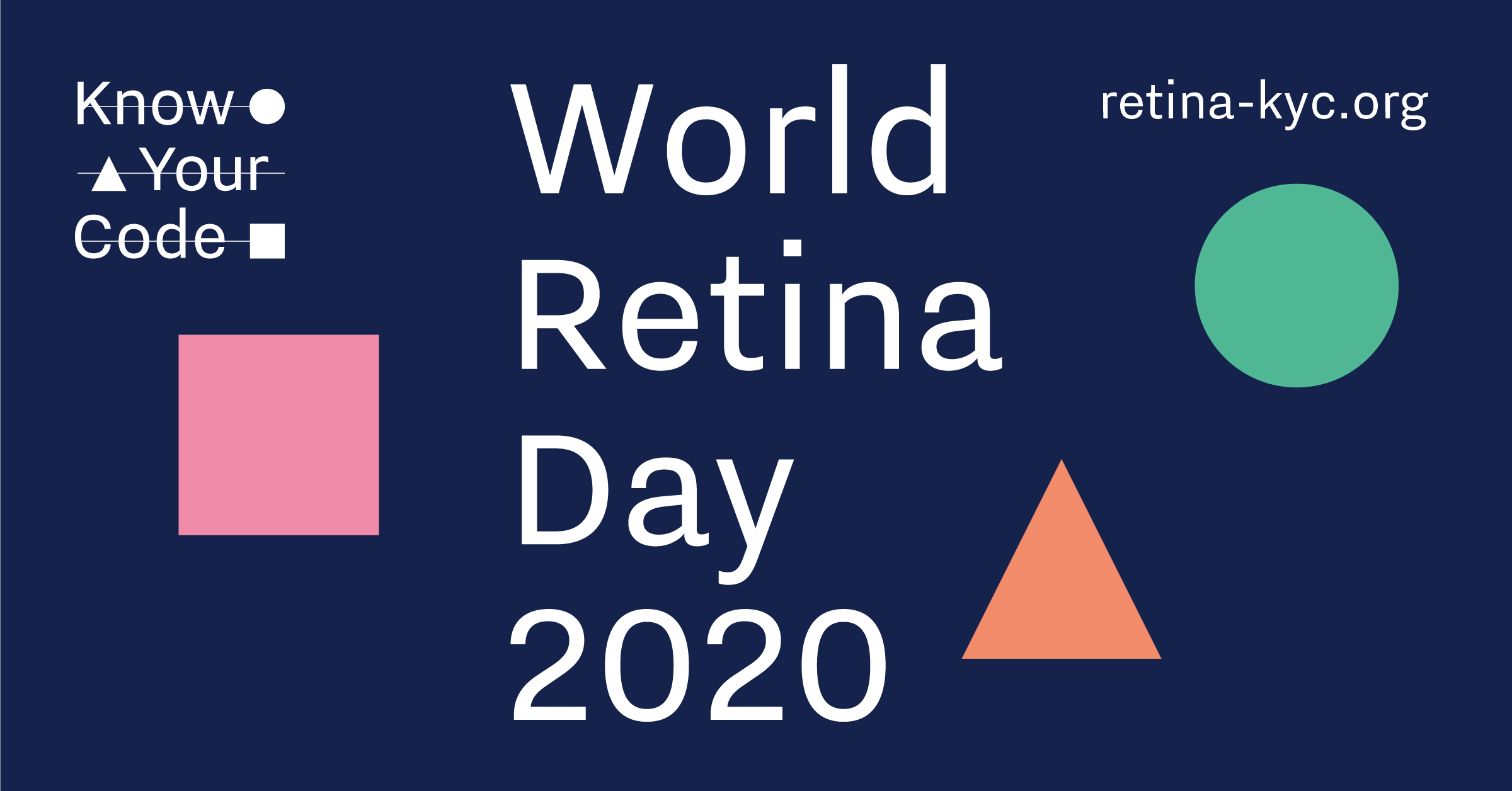 Flyer: World Retina Day 2020, Know Your Code launch