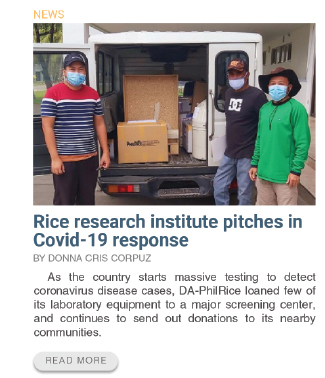 Rice research institute pitches in covid-19 response