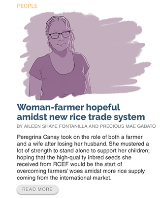 Woman farmer hopeful amidst new rice trade system