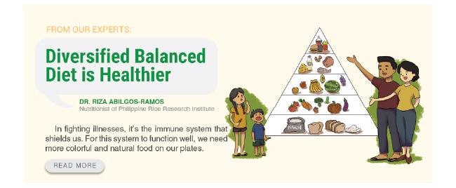 Diversified Balanced Diet is Healthier