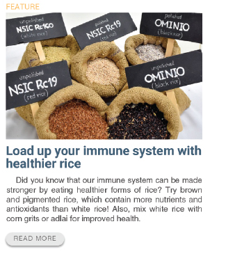 Load up your immune system with healthier rice