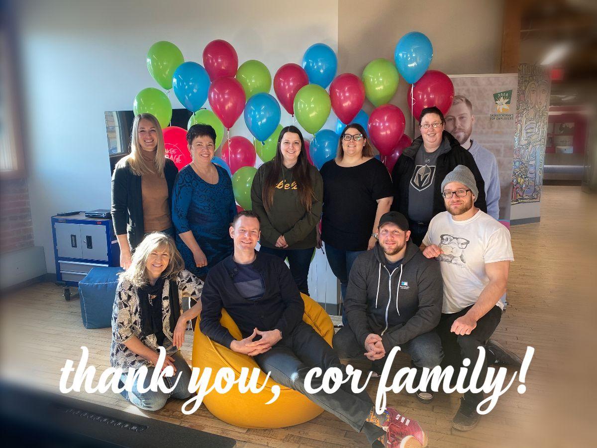 Thank you COR Family!