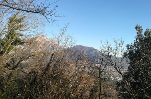 Vista su Gemona del Friuli, dal sentiero del Monte Brancot