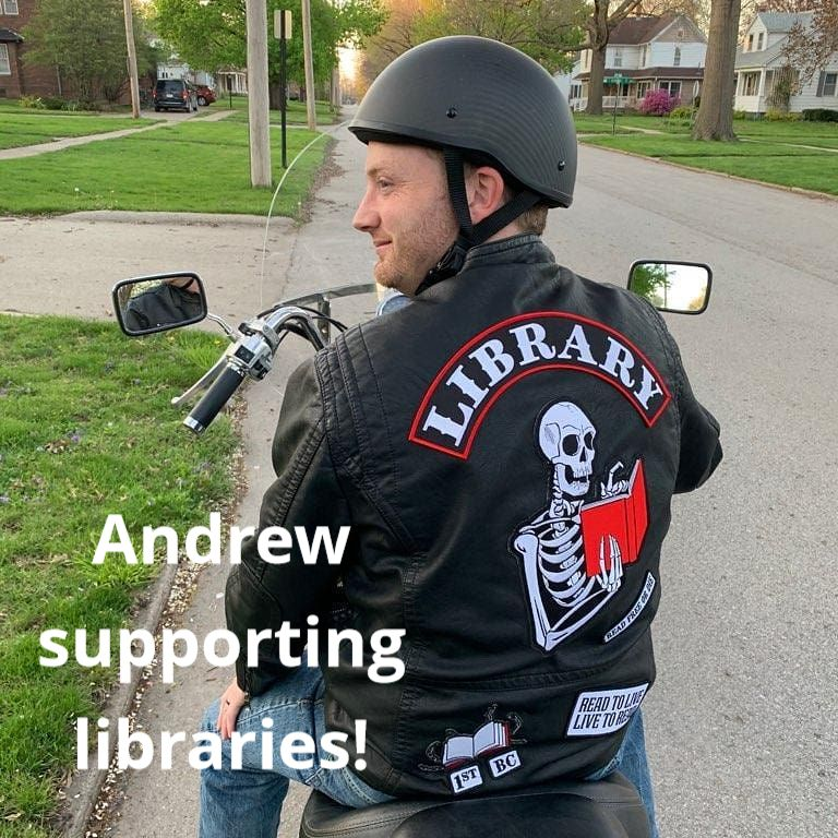 Director Andrew in a Library jacket
