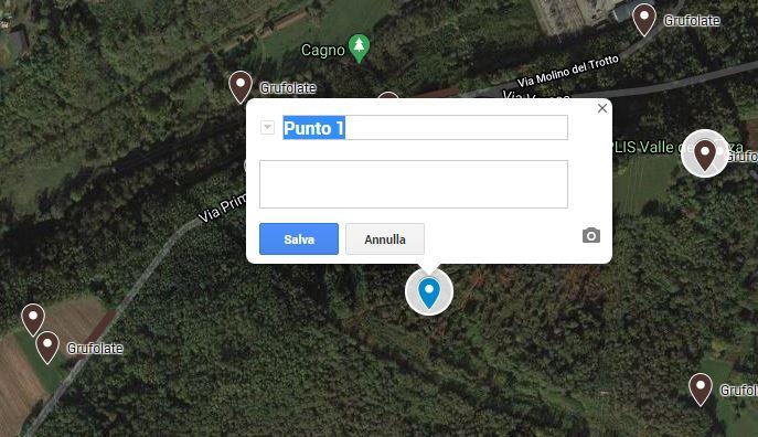 Clicca sul punto in cui hai individuato il segno di presenza