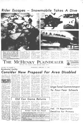 Mchenry Plaindealer new issues