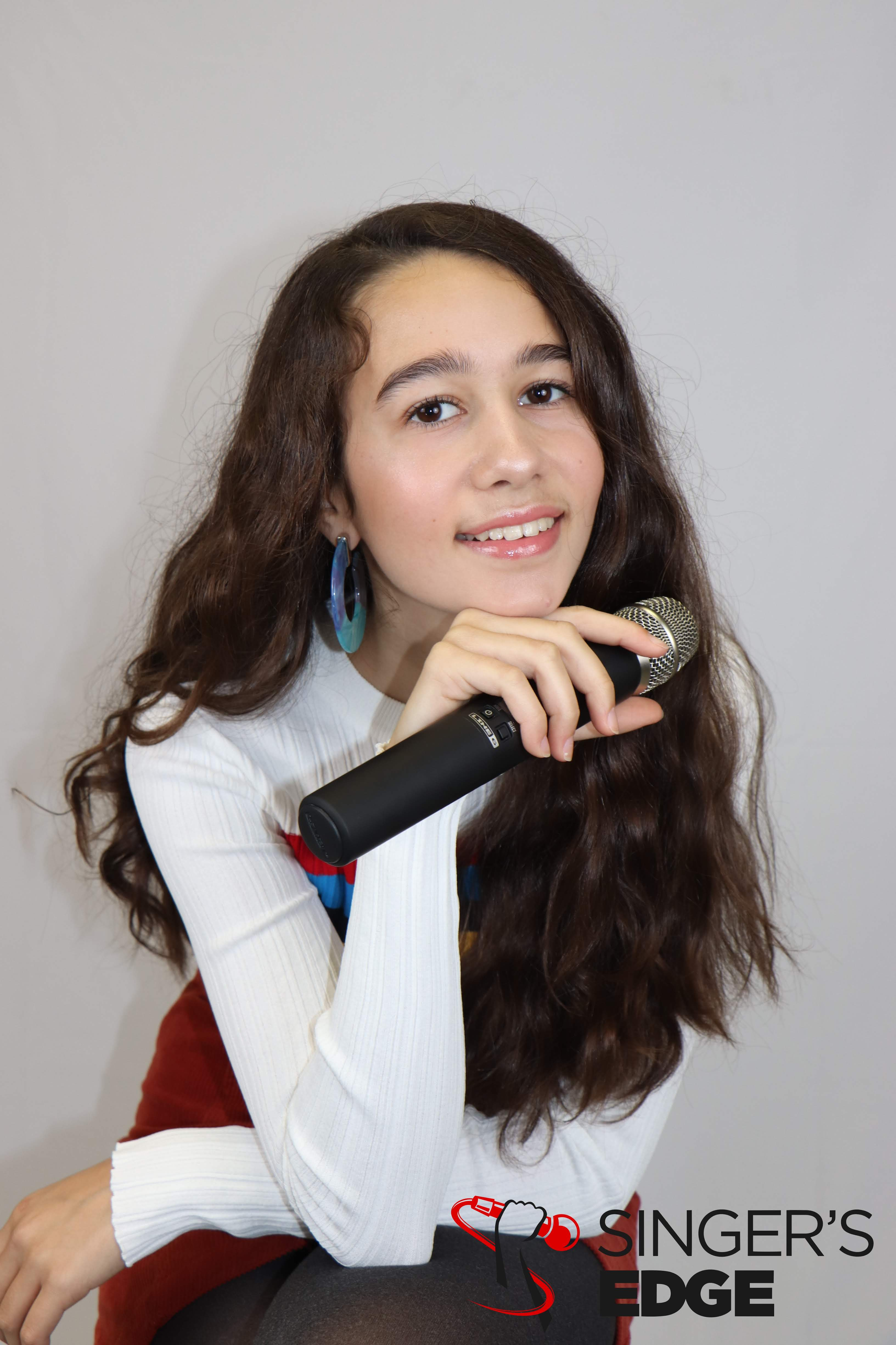 voice student in music academy photo day