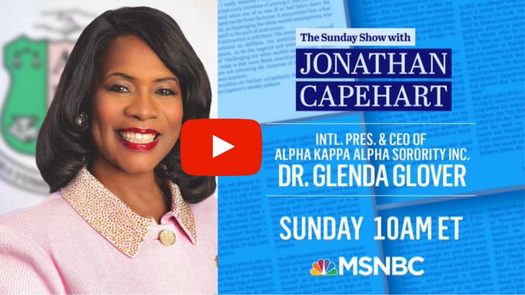 CAU MBA Alumna Dr. Glenda Glover on The Sunday Show (MSNBC)