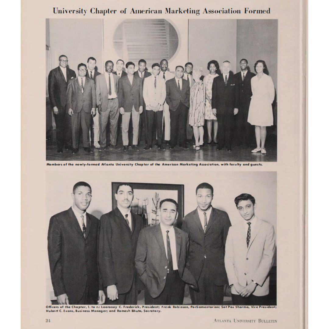 Atlanta University Chapter of American Marketing Association Formed (July 1967)