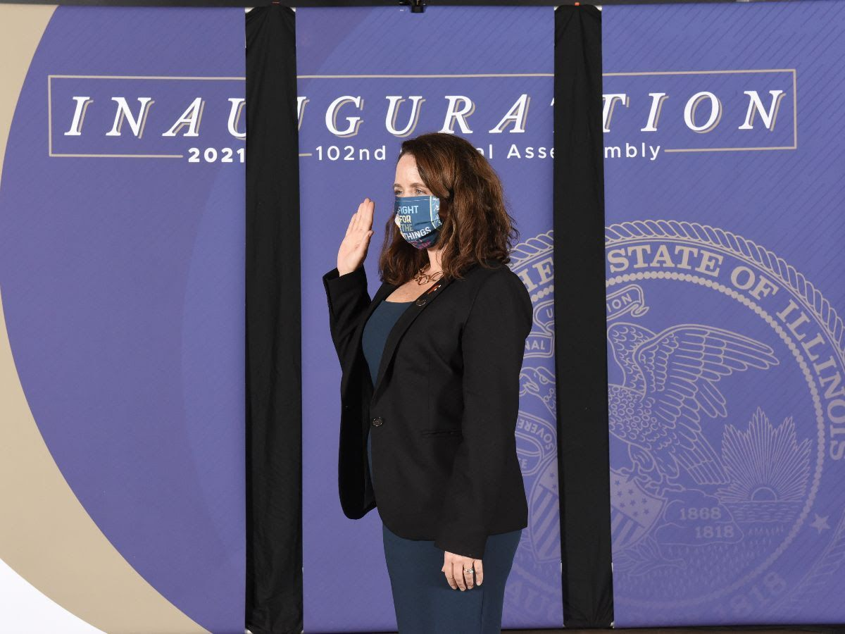 Maura on her Inauguration Day