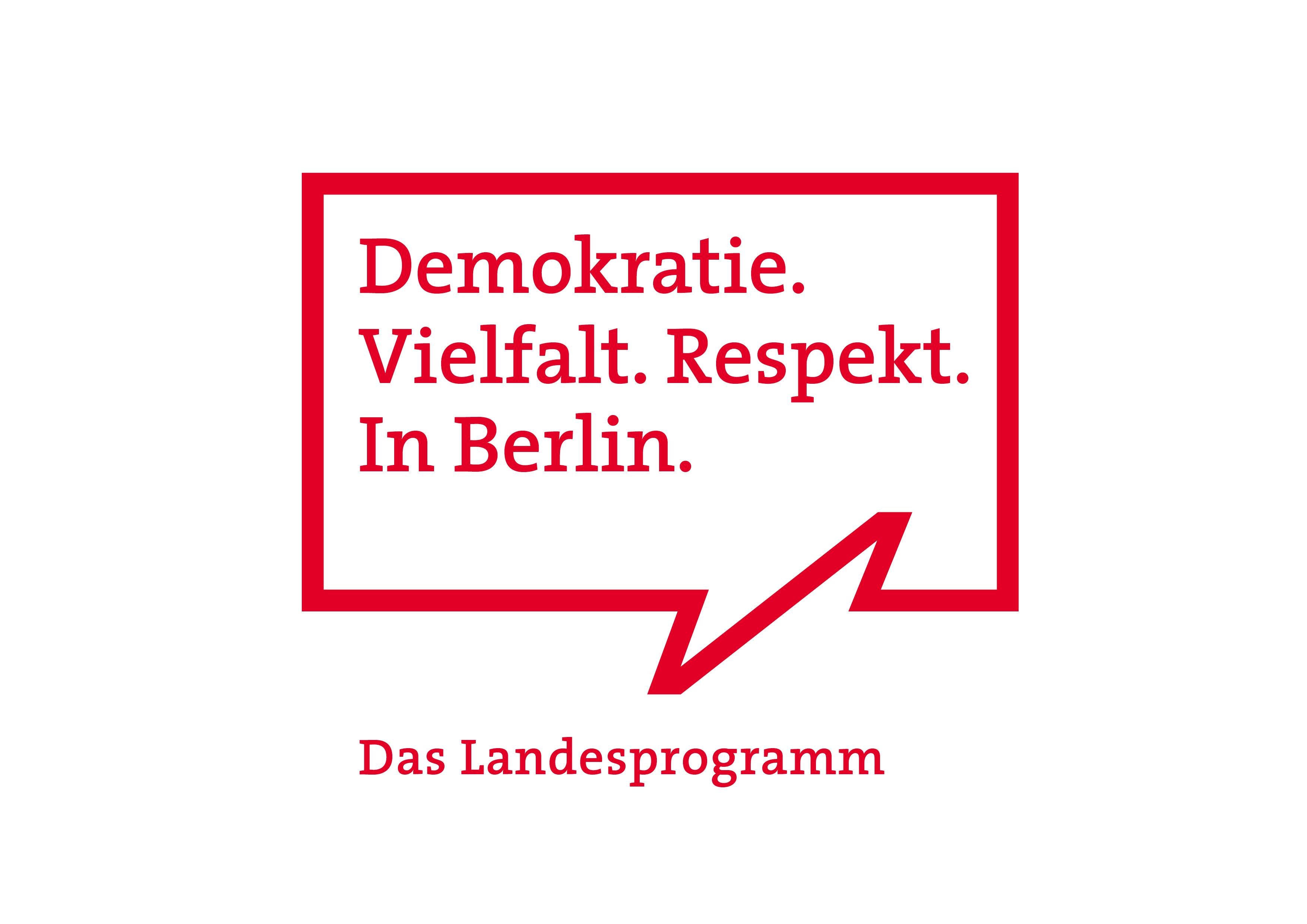 Logo Landesprogramm Demokratie Vielfalt Respekt in Berlin