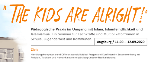 Ausschnitt aus dem Flyer zum Train-the-Trainer-Seminar in Augsburg