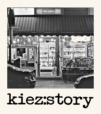 Logo zum Projekt kiez:story; Bild: ufuq.de
