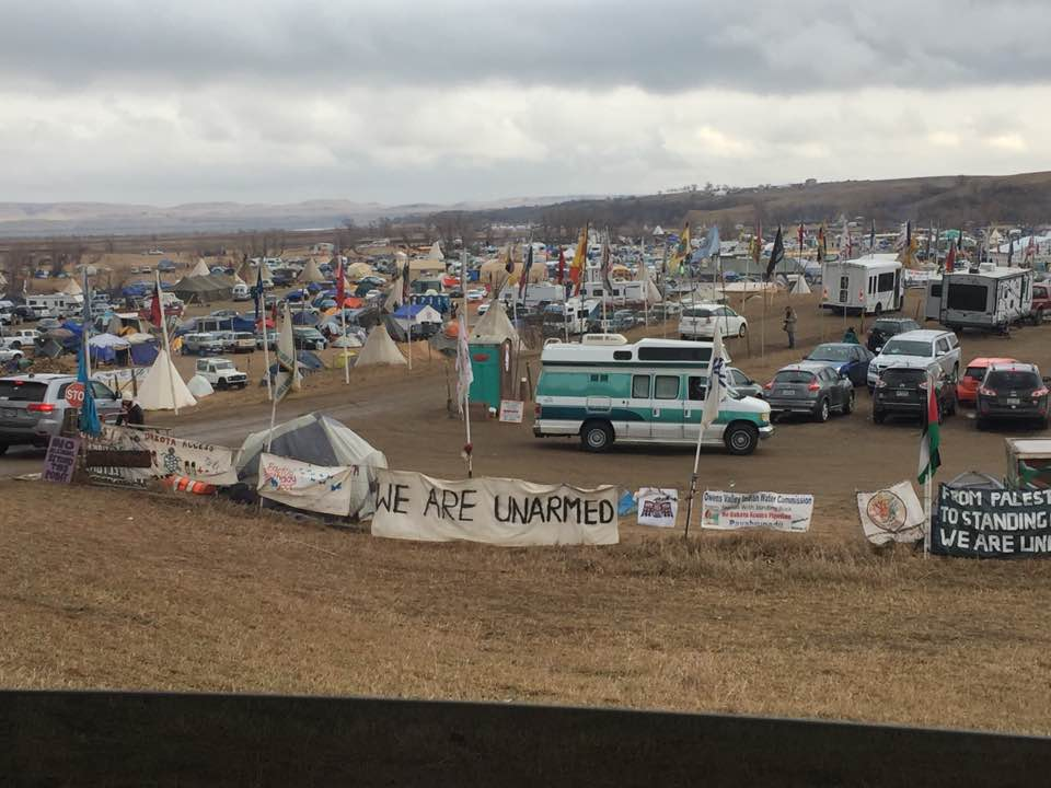 image of Standing Rock cars and campers
