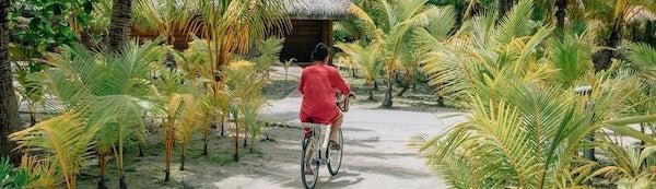 A bike ride on Tetiaroa
