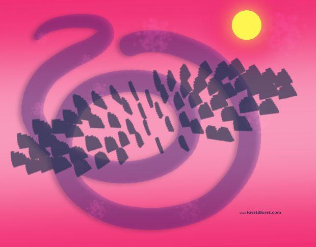 """Life Evolving Beyond Fear"" ©2020 KristiBorst.com"