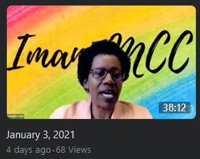Imani MCC Zoom Worship Live on Facebook 1-3-2021