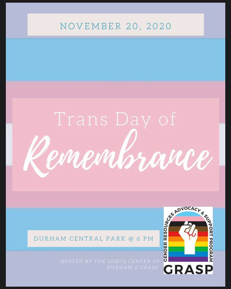 Trans Day of Remembrance - Durham Central Park