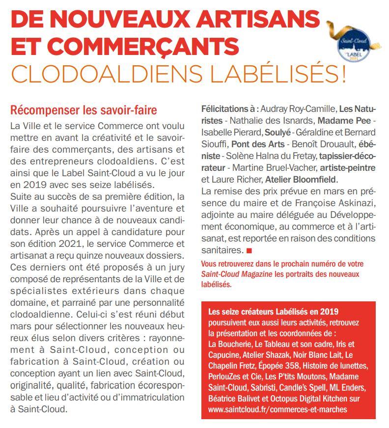 Label Saint-Cloud 2021