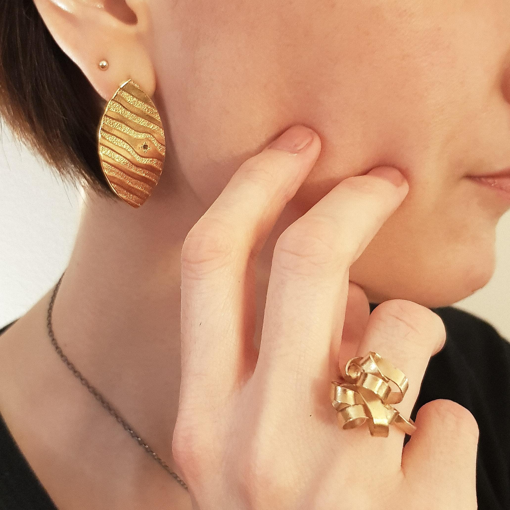 Boucles d'oreilles pièces uniques