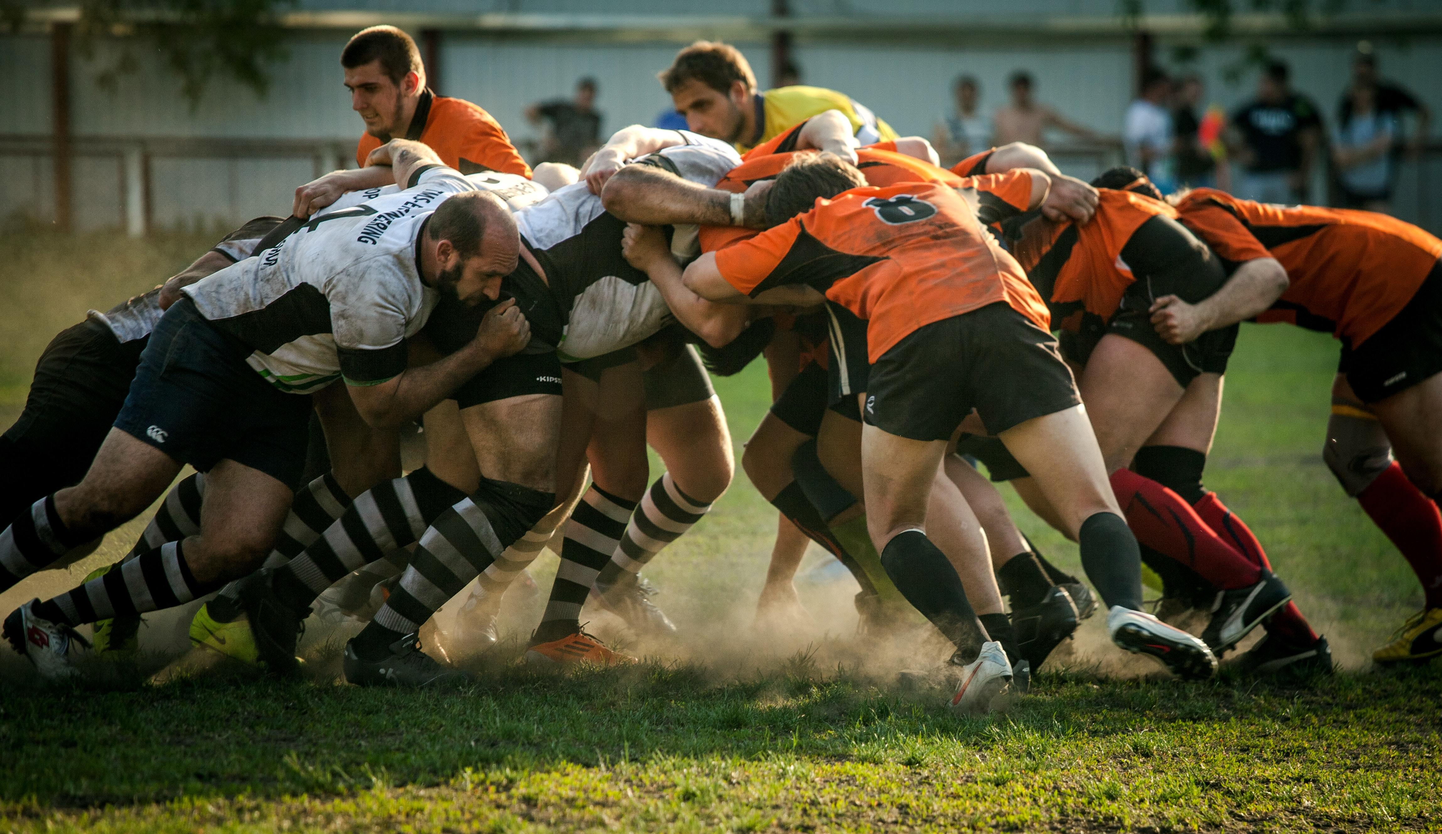 Rugby Team Playing