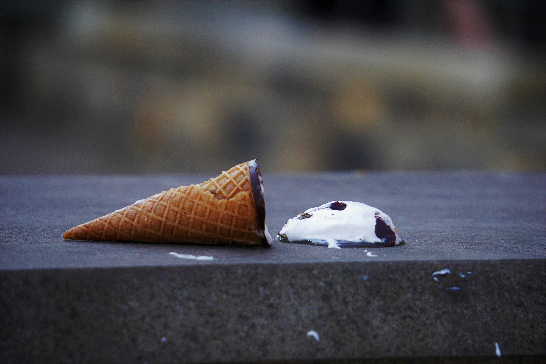 Spilled Ice Cream Cone