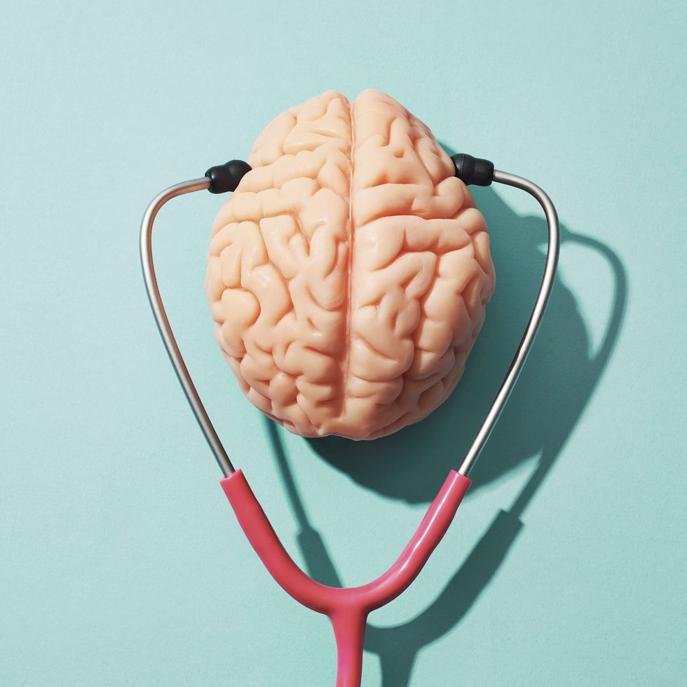 Stethoscope Testing Brain