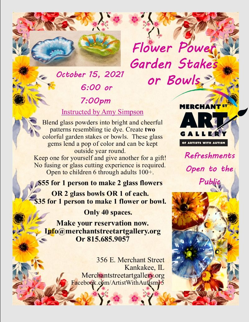Flower Power, Garden Stakes or Bowls