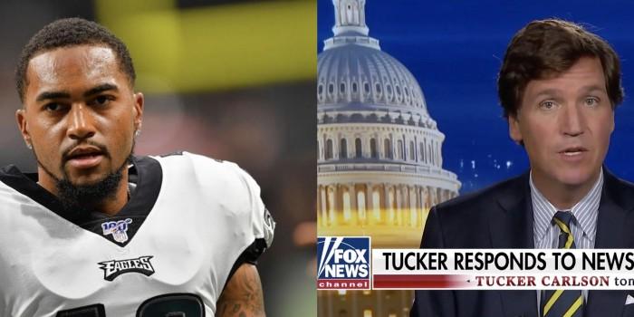 Philadelphia Eagles wide receiver DeSean Jackson and Fox News host Tucker Carlson
