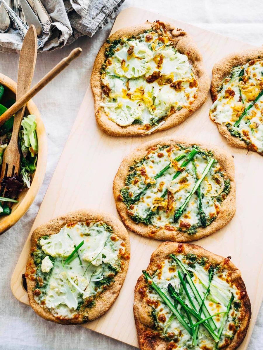 spelt pizzas