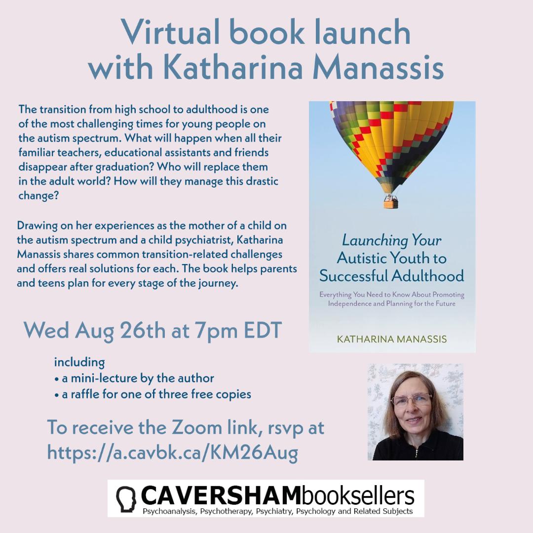 Virtual book launch with Katharina Manassis