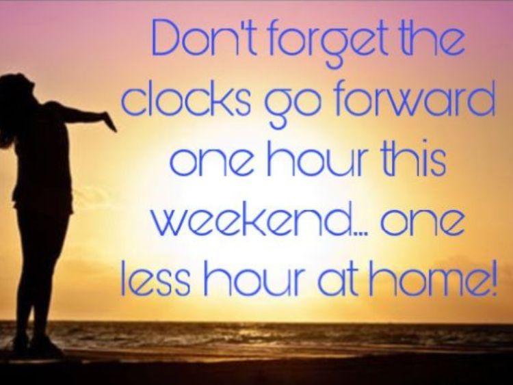 Clocks go forward this weekend!