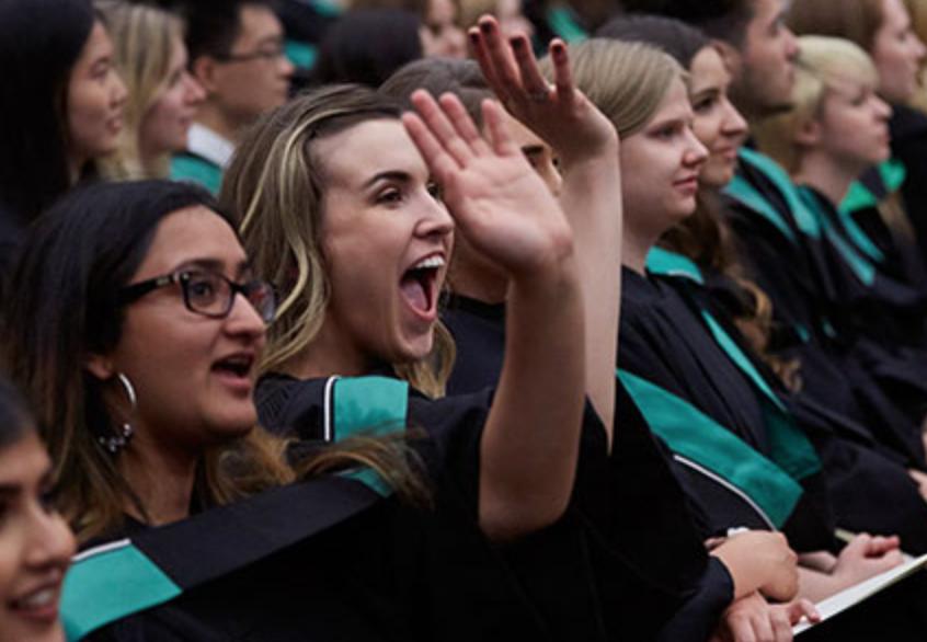 Graduands at convocation