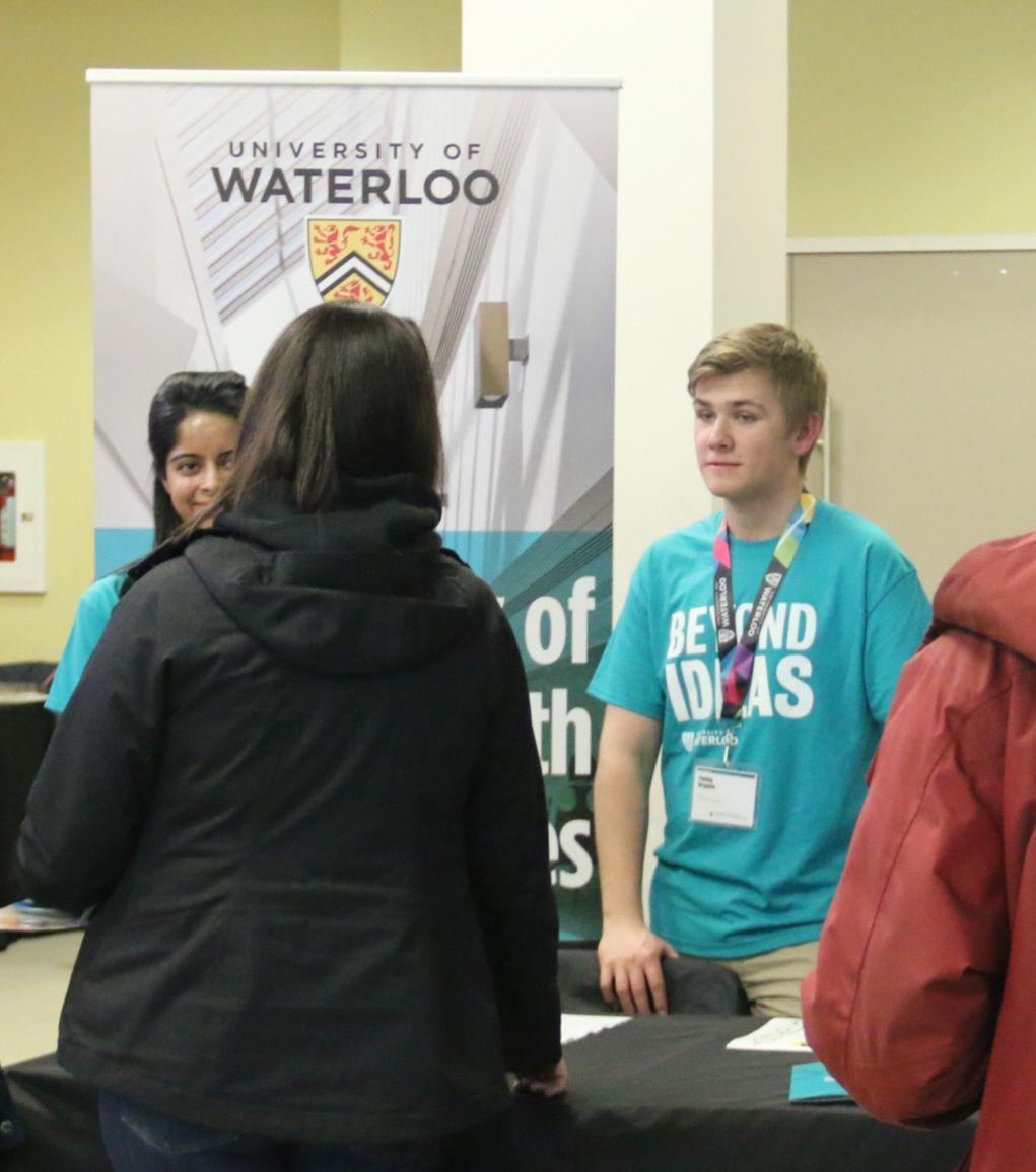 Student ambassadors at event night