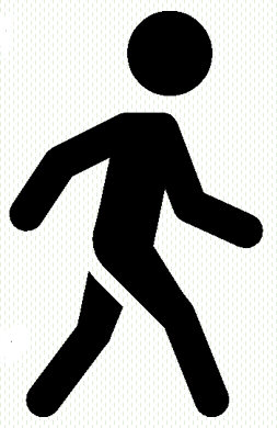 Walking stick figure