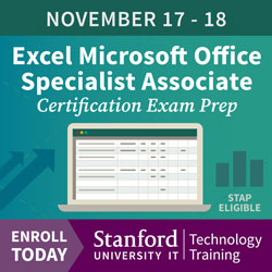 Tech Training Ad - Excel Certification