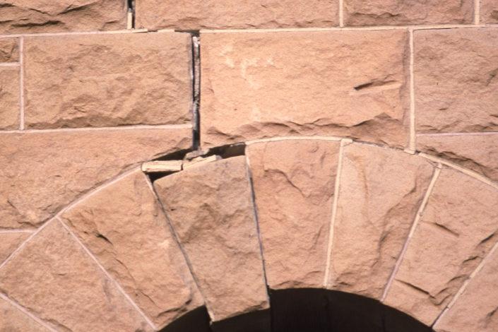 Sandstone earthquake damage