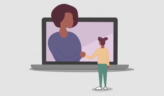 Illustration of virtual advising
