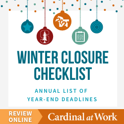 HR Comms - Winter Checklist