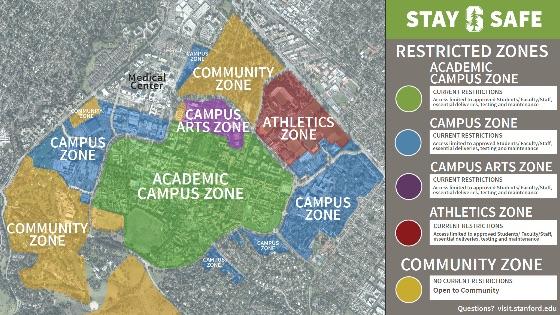 Campus zone maps